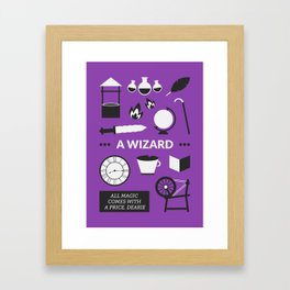 OUAT - A Wizard Framed Art Print