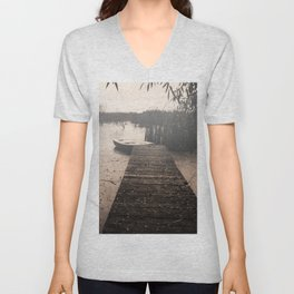 The fall  The Lake  The boat The drama Unisex V-Neck