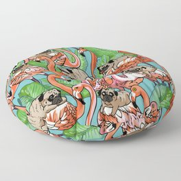 Flamingo Party Floor Pillow
