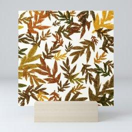 Fall Leaves Pattern Mini Art Print