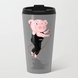 Pig Skipping Travel Mug