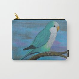Cuddly blue quaker parrot Carry-All Pouch