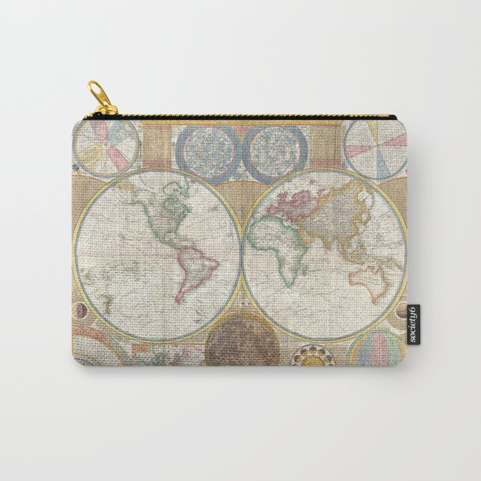 1794 Laurie & Whittle Old Map of the World Carry-All Pouch