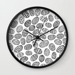Egg Doodles Wall Clock