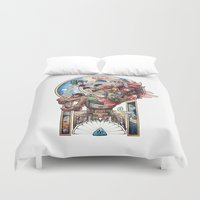 majora Duvet Covers featuring The song of Majora by Alejandra Vindas
