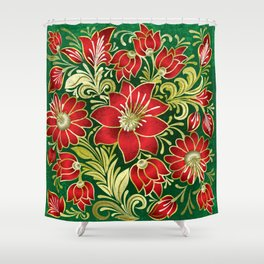 Shabby flowers #4 Shower Curtain