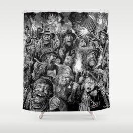 Frankenstein Villagers Shower Curtain