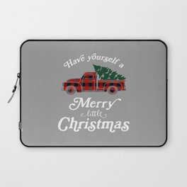 Have yourself a Merry little Christmas Vintage Truck Laptop Sleeve