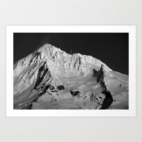 Mt Hood Winter. Art Print