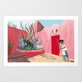 Colourful Mexico Art Print