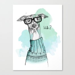 Funny Greyhound Canvas Print