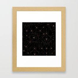 celestial pattern design Framed Art Print
