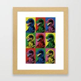 Dinosaur Pop Art Framed Art Print