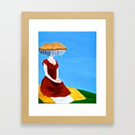 Shut your pie face Framed Art Print