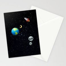 Space Emoji Stationery Cards