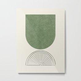 Arch balance green 2 Metal Print