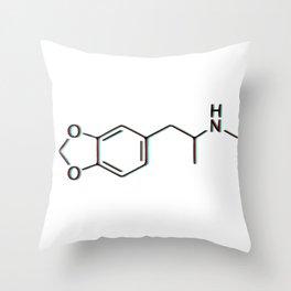 MDAMA Molecule Throw Pillow