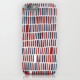 Patriotic red and blue iPhone Case