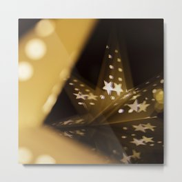 Xmas-Star And Mirror Image Metal Print