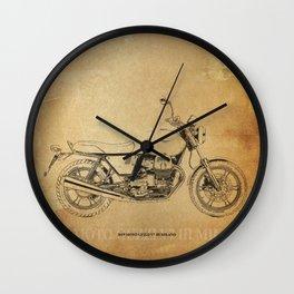 237-2019 Moto Guzzi V7 III Milano gift ideas Wall Clock