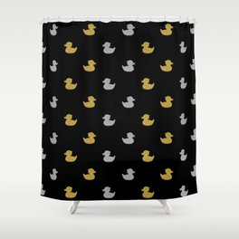 gold silver pattern Shower Curtain