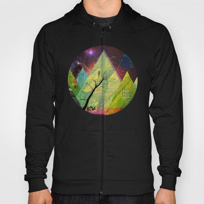 Wonder Wood Dream Forest Pyramids · Crop Circle Hoody
