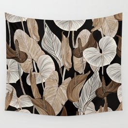 Lush lily - russet Wall Tapestry