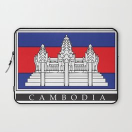 Cambodian Flag Laptop Sleeve