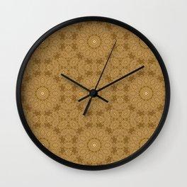 Christmas Gold Wall Clock