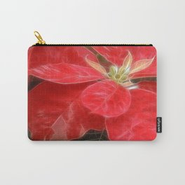 Mottled Red Poinsettia 1 Ephemeral Carry-All Pouch