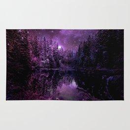 A Cold Winter's Night : Deep Purple Winter Wonderland Rug