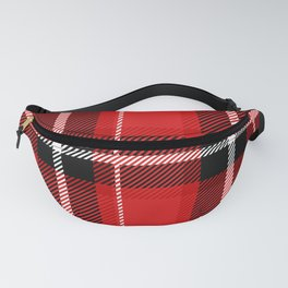 Red + Black Plaid Fanny Pack
