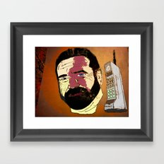 Billy Mays here calling you about my life-altering port-wine stain.  Framed Art Print
