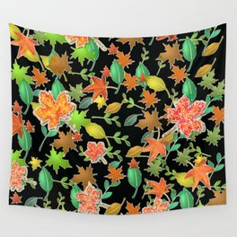 Herbstlaub colorful Wall Tapestry