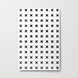 BLACK CROSS ON WHITE BACKGROUND Metal Print