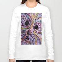 schnauzer Long Sleeve T-shirts featuring Schnauzer by EloiseArt