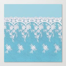 Love of Turquoise #lace Canvas Print