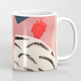 abstract collage with embroidery Coffee Mug