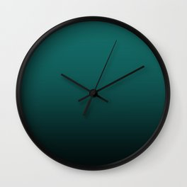 Dark turquoise Ombre Wall Clock