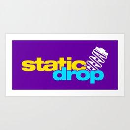 Static drop v3 HQvector Art Print