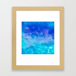Sweet Blue Dreams Framed Art Print