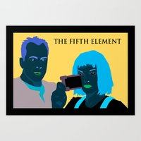 fifth element Art Prints featuring The Fifth Element by illustrationsbysammi