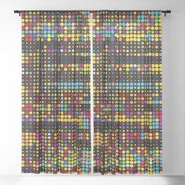 Dots Matrix Abstract Pattern Sheer Curtain