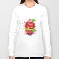 burger Long Sleeve T-shirts featuring burger by Boho déco