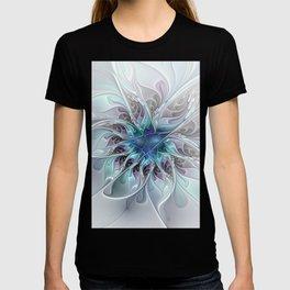 Flourish Abstract, Fantasy Flower Fractal Art T-shirt