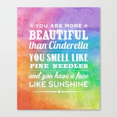 Sunshine Face Canvas Print