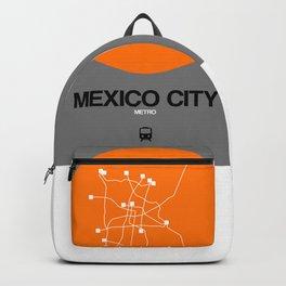 Mexico City Orange Subway Map Backpack