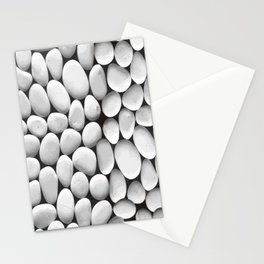 White Stones Background Vector Stationery Cards