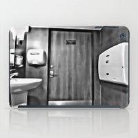 bathroom iPad Cases featuring bathroom by artinn