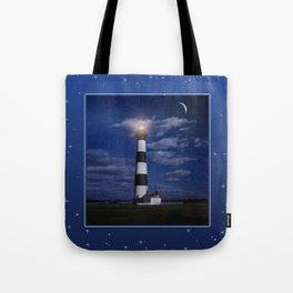 Night at Bodie Island Light Tote Bag